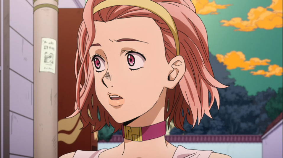 Close-up of Reimi's face as she looks wide-eyed and pensive.