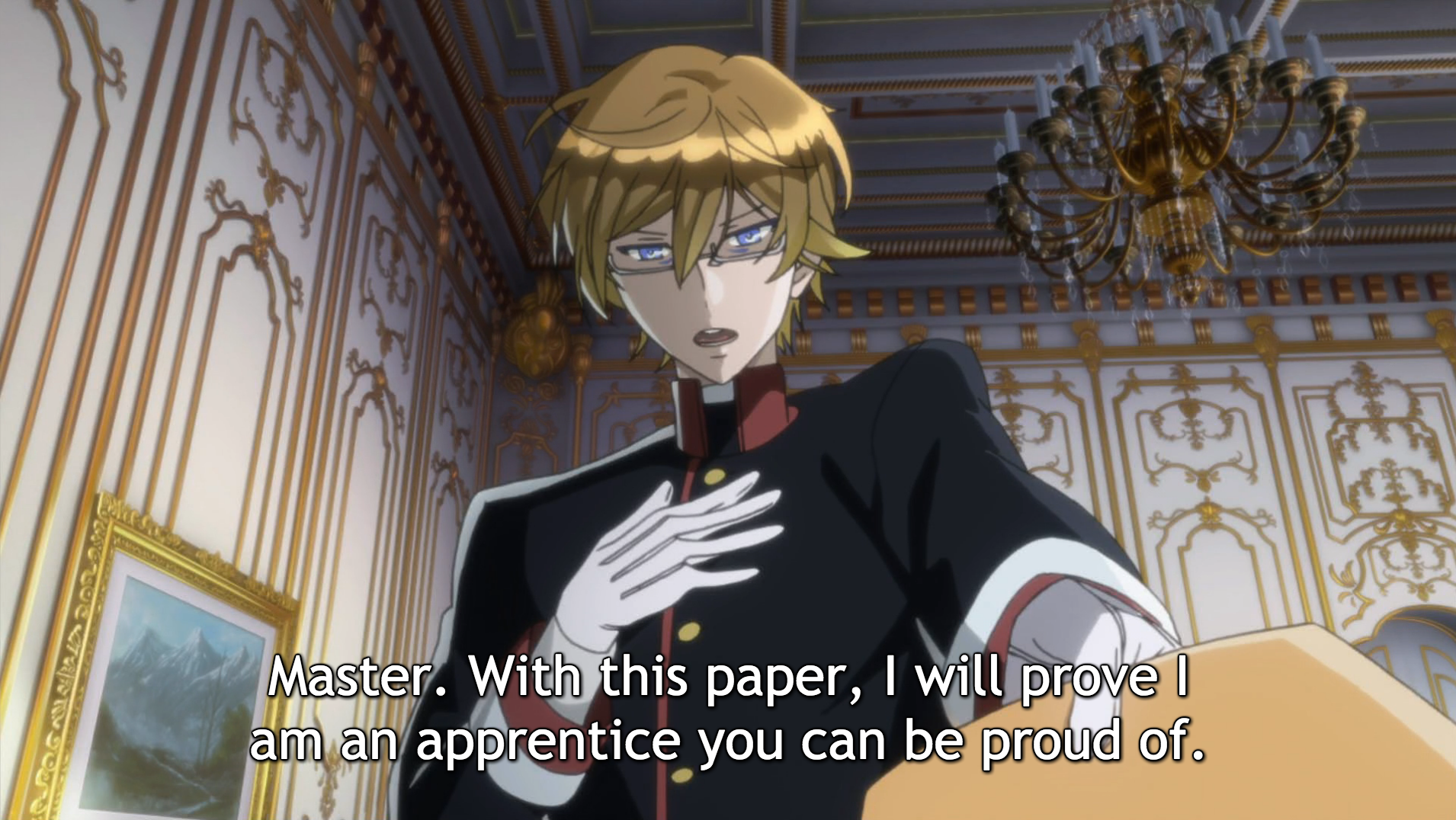 Bruno turns in a paper to his tutor, Heine