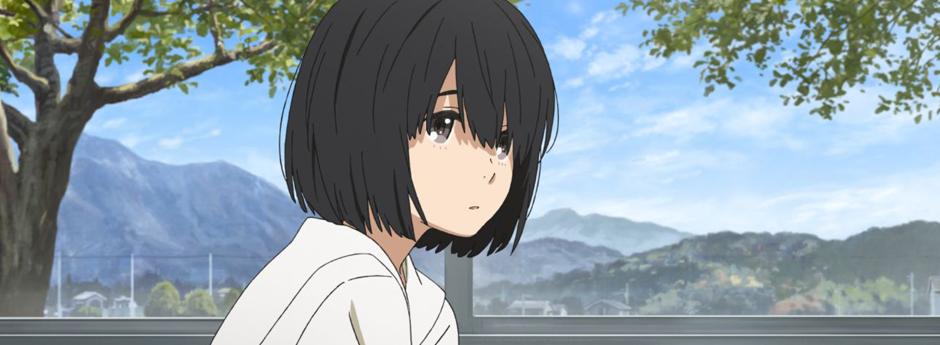Close up of Jun Narase, a girl with short black hair