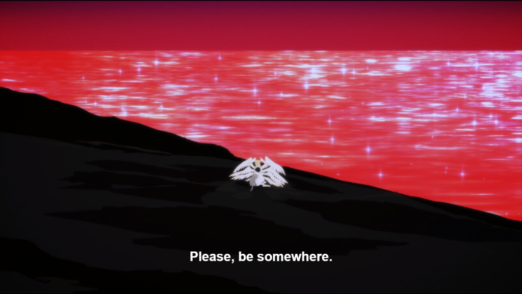 The same scene as previous with Akira and Satan. caption: Please, be somewhere