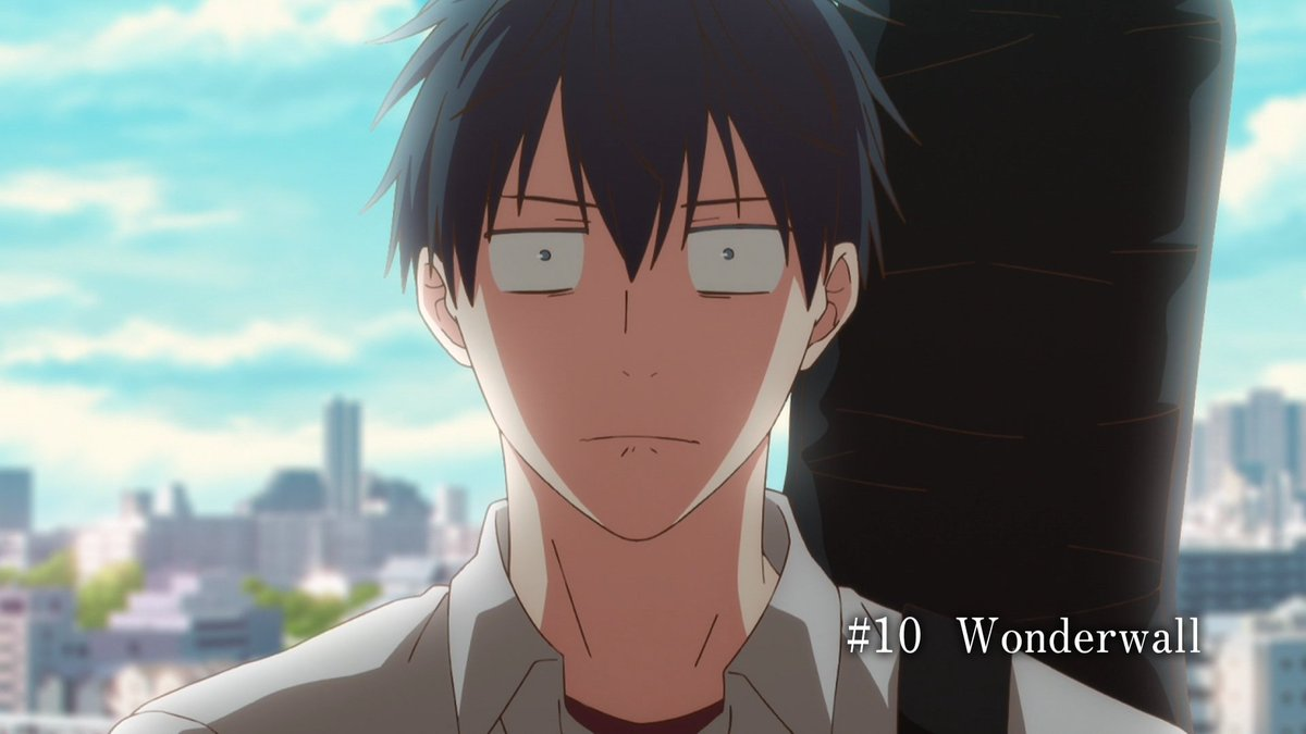 Ritsuka from given looking intense and shocked. on-screen text: #10 Wonderwall